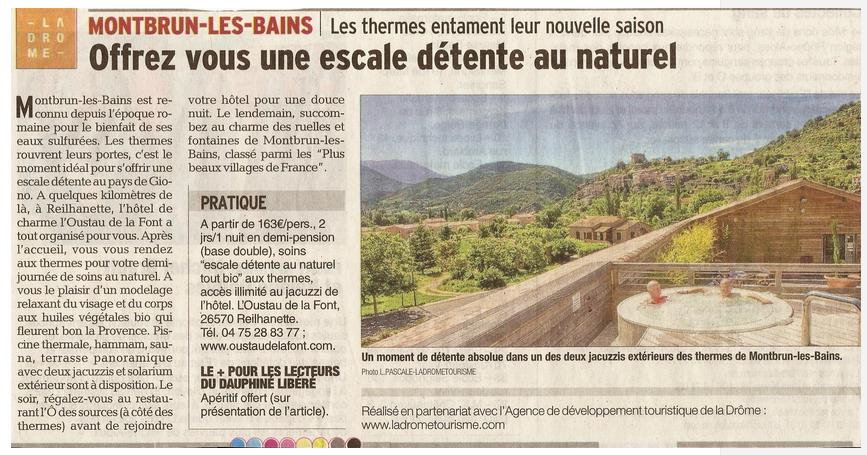 Article Dauphiné 2015